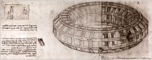 Leonardo da Vinci, Mazzocchio (Foglio del Codice Atlantico edizione Hoepli di proprietà di Leonardo3) www.leonardo3.net