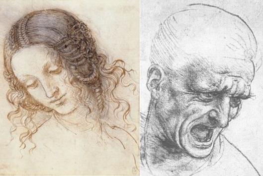 Due disegni di Leonardo da Vinci esposti nella mostra in corso a Milano