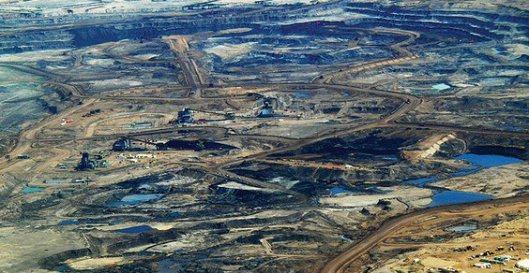 Foto di sabbie bituminose nell'Alberta, Canada