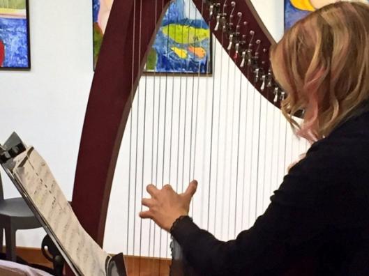 Sara Terzano at the Celtic harp